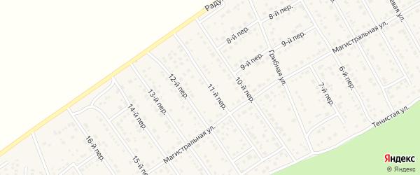 11-й переулок на карте Лесного поселка с номерами домов