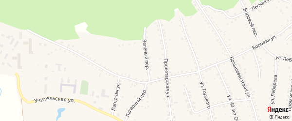 Зеленый переулок на карте поселка Тальменки с номерами домов
