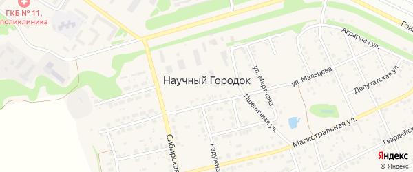 Майская улица на карте поселка Научного Городка с номерами домов
