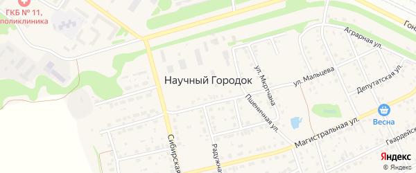 Улица Академика Ш.А.Мкртчана на карте поселка Научного Городка с номерами домов