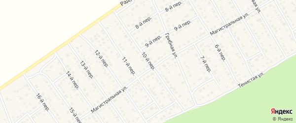 10-й переулок на карте Лесного поселка с номерами домов