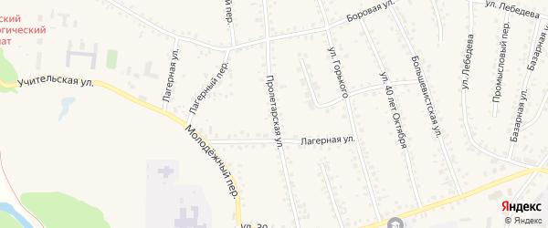 Пролетарская улица на карте поселка Тальменки с номерами домов