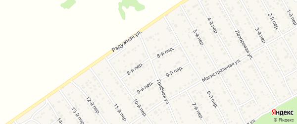 8-й переулок на карте Лесного поселка с номерами домов