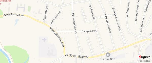 Лагерная улица на карте поселка Тальменки с номерами домов