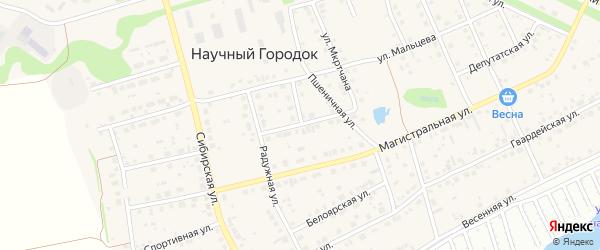 Депутатская улица на карте поселка Научного Городка с номерами домов