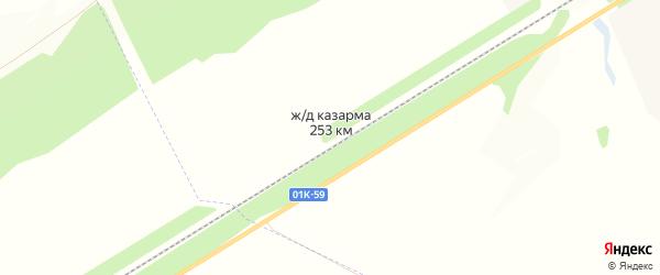 Карта станции Железнодорожная Казарма 253 км города Барнаула в Алтайском крае с улицами и номерами домов