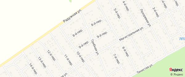 9-й переулок на карте Лесного поселка с номерами домов