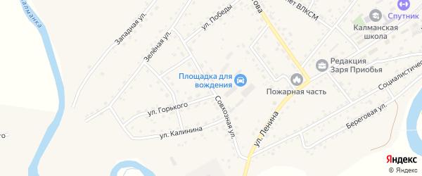 Совхозная улица на карте села Калманки с номерами домов