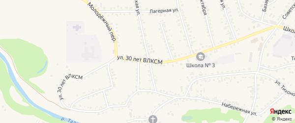 Улица 30 лет ВЛКСМ на карте поселка Тальменки с номерами домов