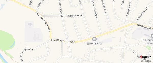 Переулок Маяковского на карте поселка Тальменки с номерами домов