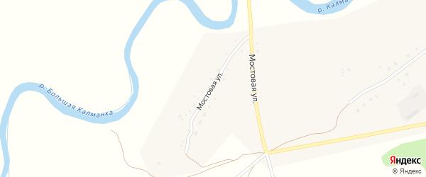 Мостовая улица на карте поселка Троицка с номерами домов