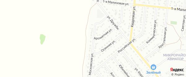 Московская улица на карте садового некоммерческого товарищества Аэрофлота с номерами домов
