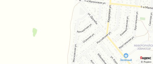 Московская улица на карте Барнаула с номерами домов