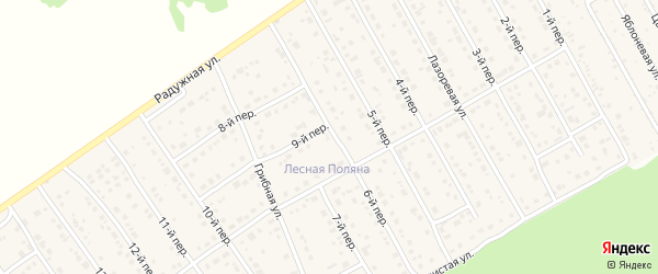 6-й переулок на карте Лесного поселка с номерами домов