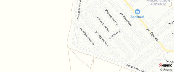 Улица Менделеева на карте Барнаула с номерами домов