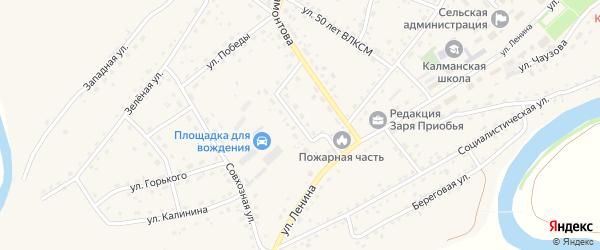 Сибирская улица на карте села Калманки с номерами домов