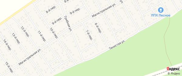 7-й переулок на карте Лесного поселка с номерами домов