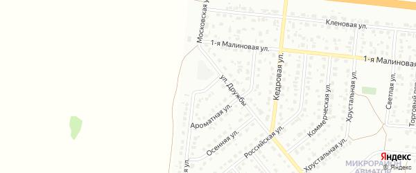 Проходной переулок на карте Барнаула с номерами домов