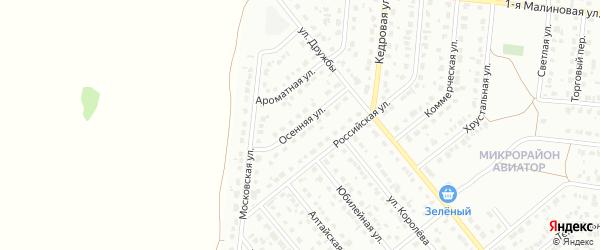 Осенняя улица на карте Барнаула с номерами домов