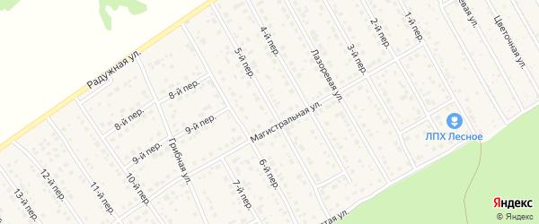 5-й переулок на карте Лесного поселка с номерами домов