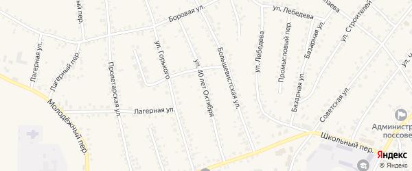 Улица 40 лет Октября на карте поселка Тальменки с номерами домов