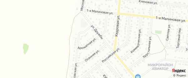 Ароматная улица на карте Барнаула с номерами домов