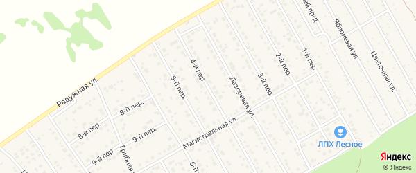 4-й переулок на карте Лесного поселка с номерами домов