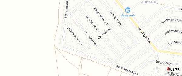 Улица Курчатова на карте Барнаула с номерами домов