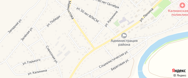 Улица Калинина на карте села Калманки с номерами домов