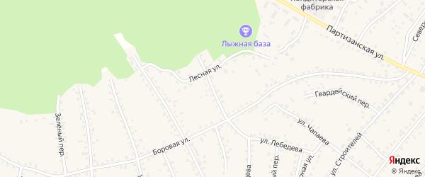 Боровой переулок на карте поселка Тальменки с номерами домов