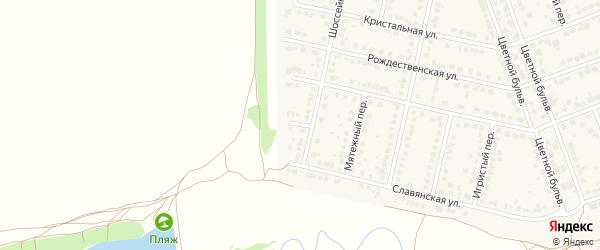 Белый переулок на карте села Власихи с номерами домов