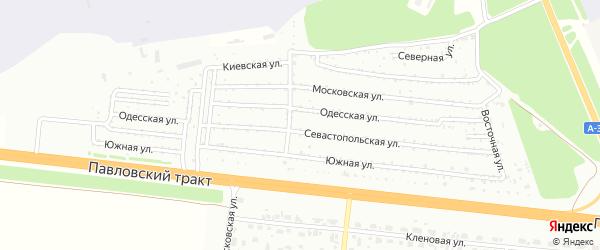 Южная улица на карте садового некоммерческого товарищества Аэрофлота с номерами домов