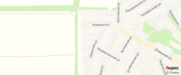 Казанский переулок на карте села Власихи с номерами домов