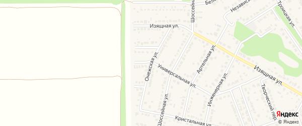 Онежская улица на карте села Власихи с номерами домов