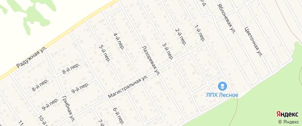 Лазоревая улица на карте Лесного поселка с номерами домов
