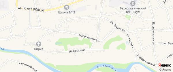 Набережная улица на карте поселка Тальменки с номерами домов