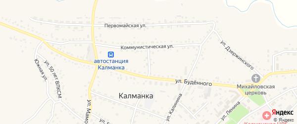 Солнечный переулок на карте села Калманки с номерами домов
