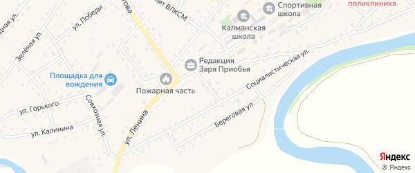 Юбилейный переулок на карте села Калманки с номерами домов