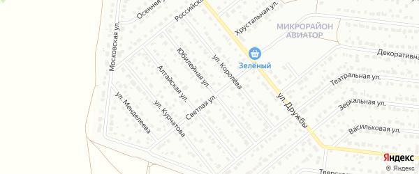 Юбилейная улица на карте Барнаула с номерами домов