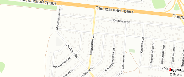 Кедровая улица на карте Барнаула с номерами домов