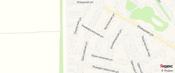 Шоссейная улица на карте села Власихи с номерами домов