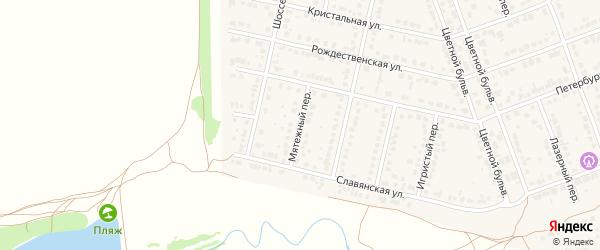 Мятежный переулок на карте села Власихи с номерами домов