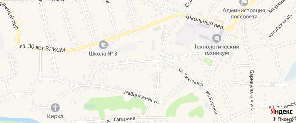 Улица Тихонова на карте поселка Тальменки с номерами домов