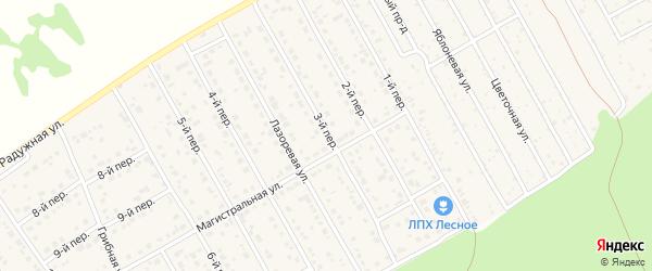3-й переулок на карте Лесного поселка с номерами домов
