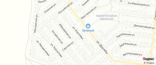 Улица Королева на карте Барнаула с номерами домов