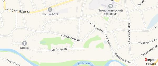 Тихоновский переулок на карте поселка Тальменки с номерами домов