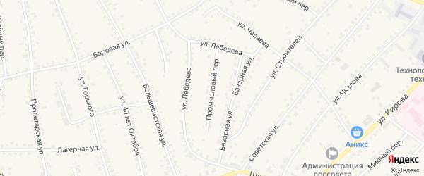 Промысловый переулок на карте поселка Тальменки с номерами домов