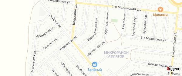 Коммерческая улица на карте Барнаула с номерами домов