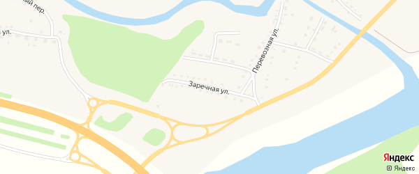 Заречная улица на карте поселка Тальменки с номерами домов