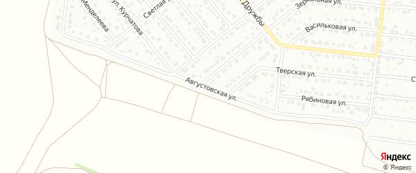 Августовская улица на карте Барнаула с номерами домов